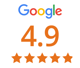 google review score 4.9 out of 5 stars